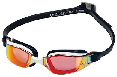 Michael Phelps Xceed Goggles - Blue/White with Red Titanium Mirror Lens alternate image 3