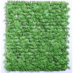 Gard artificial cu frunze verzi, 100 x 250 cm