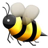 Image result for bee emoji