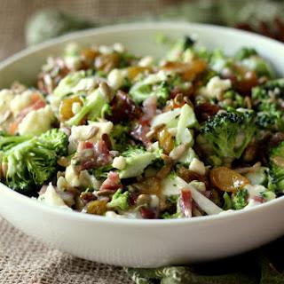 Broccoli Cauliflower Raisin Salad Recipes.