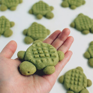Matcha Turtle Cookies.