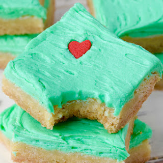 Grinch Sugar Cookie Bars.