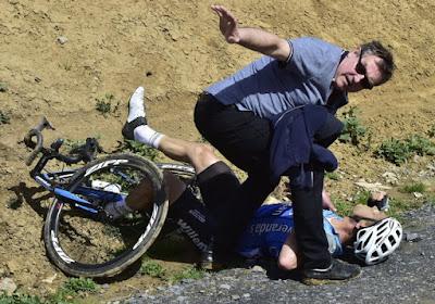 Michael Goolaerts a eu une crise cardiaque avant de tomber de son vélo