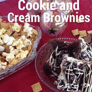 Easy Cookies and Cream Brownies
