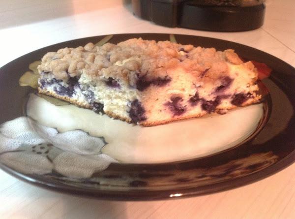 Blueberry Sour Cream Crumb Cake Recipe