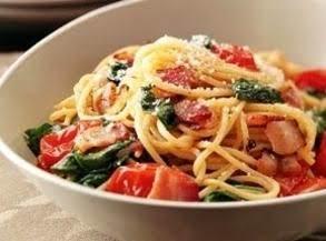 Tomato And Bacon Spaghetti