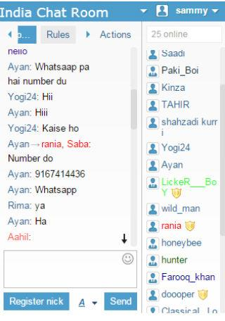 chat room in india street