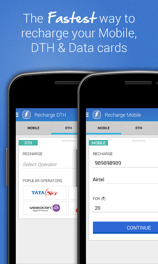Recharge mobile, DTH Online