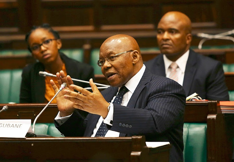 Former SABC chairman, Ben Ngubane, answers questions in parliament on Friday. Picture: ESA ALEXANDER