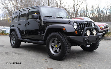 Photo: No Lift AEV Wheels with Rubicon tires and a RR front bumper