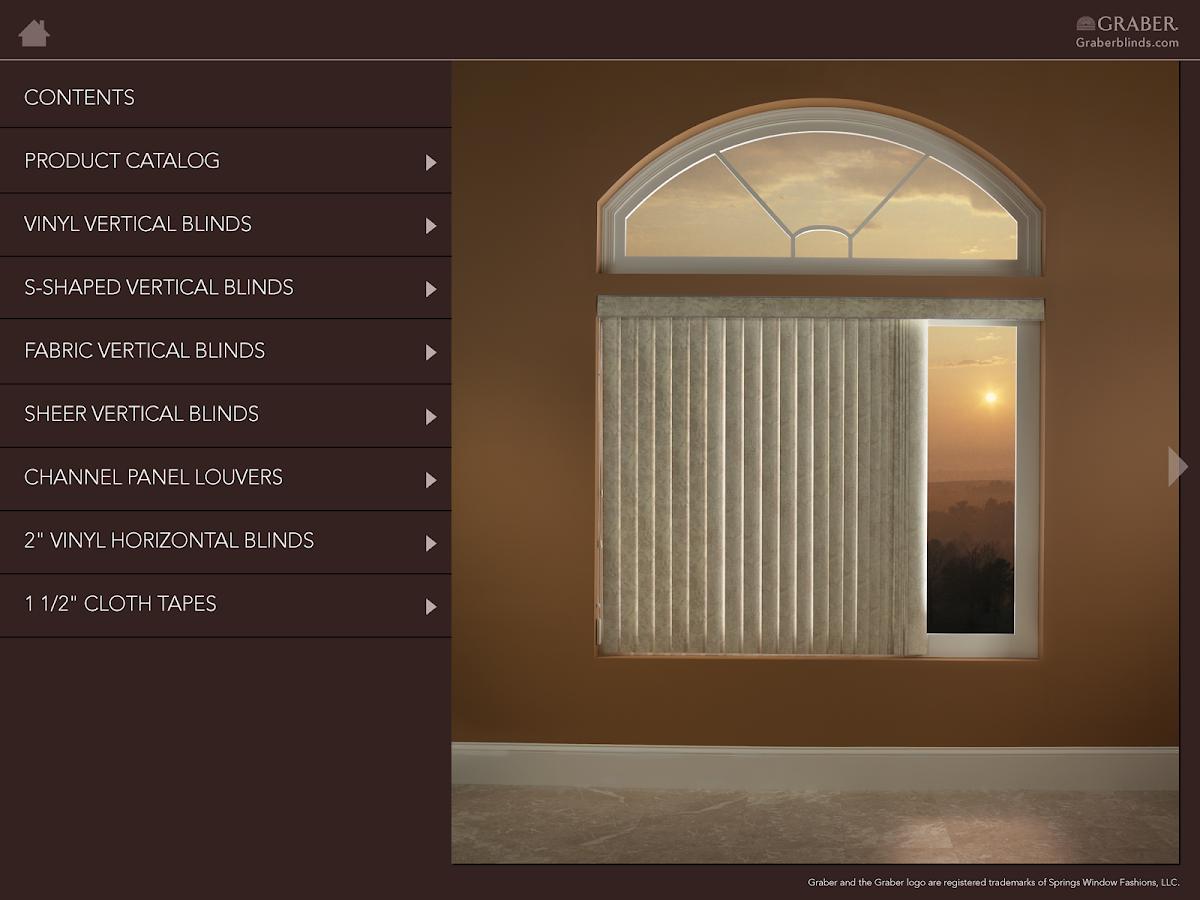 Graber vertical blinds fabric sheer vinyl - Graber Vertical Sample Book Screenshot