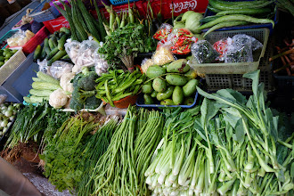 Photo: and buying our vegetables and chilies of course!