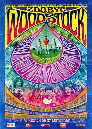 Przód ulotki filmu 'Zdobyć Woodstock'