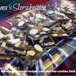 Oma's Skor Bar Cookies.
