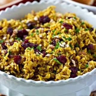 Cranberry-Pecan Curry Rice