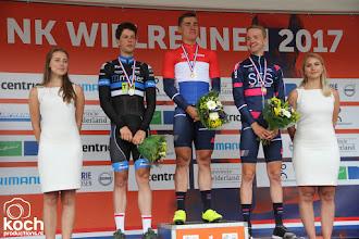 Photo: 24-06-2017: Wielrennen: NK weg beloften: MontferlandFabio Jakobsen (SEG Racing Academy) prolongeert Nederlandse beloftentitel, Stef Krul tweede (Metec TKH Cycling Team, Hartthijs de Vries (Seg Racing Academy) derde
