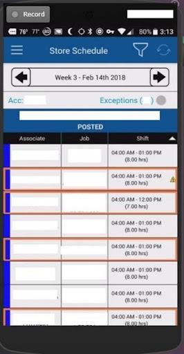 My Walmart Schedule screenshot 3