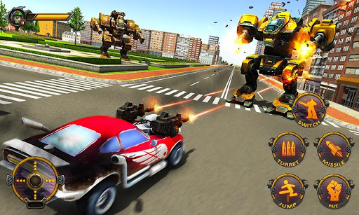 Robot Car War Transform Fight  screenshots 4