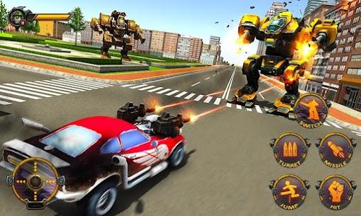 Robot Car War Transform Fight 4