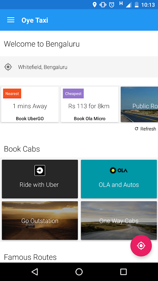 Oye Taxi - Book cabs in India- screenshot