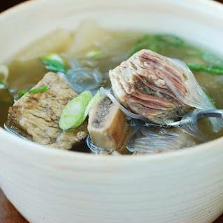 Galbitang (Beef Short Rib Soup).