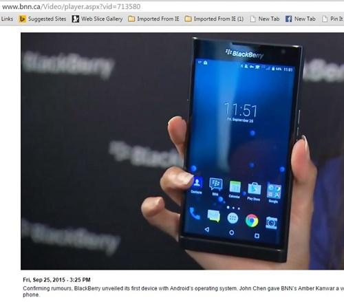 BlackBerry Priv có nhiều chi tiết giống với Passport