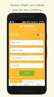 Parigha - Flight Hotel Booking App - náhled