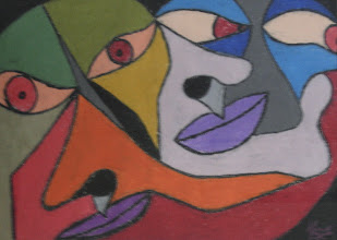 "Photo: Visage22"" x 28""2006Oil Pastel on paper"