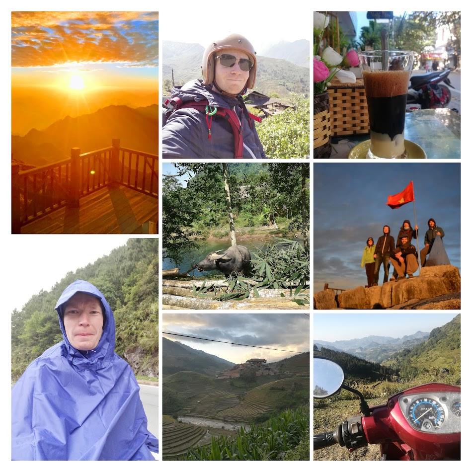 Kollasje over diverse bilder fra turen.