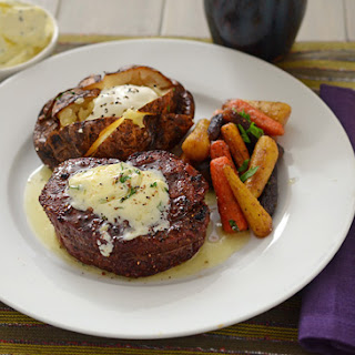 Grilled Beef Filet with Tarragon Garlic Butter Recipe
