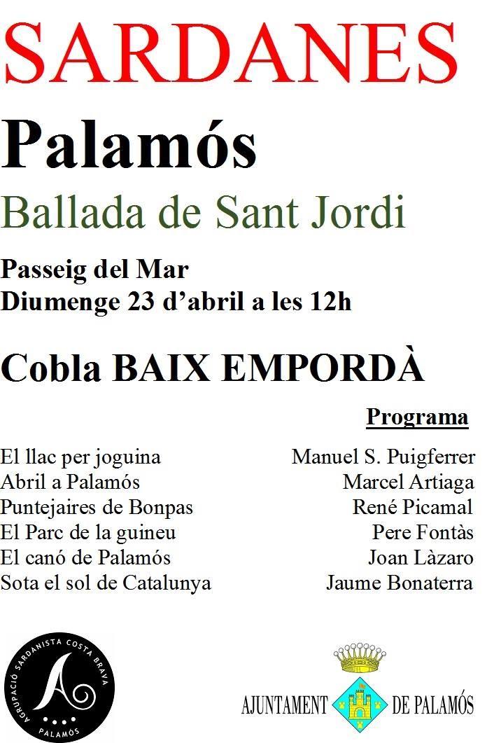 Ballada Sant Jordi a Palamós