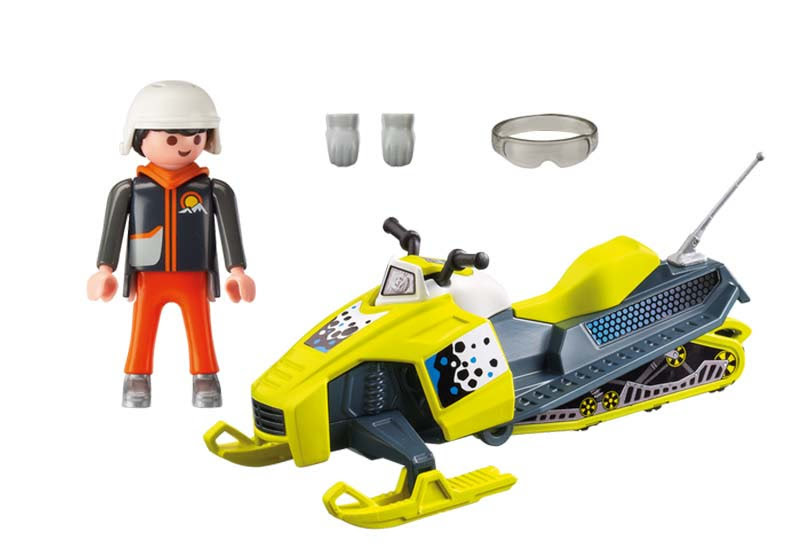 Contenido real de Playmobil® 9285 Moto de Nieve