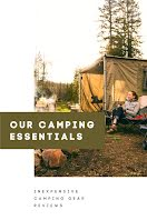 Our Camping Essentials - Pinterest Pin item