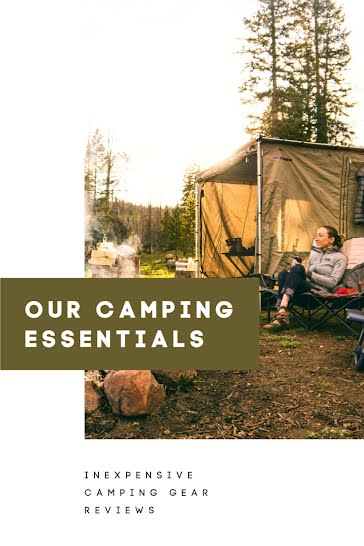 Our Camping Essentials - Pinterest Pin template