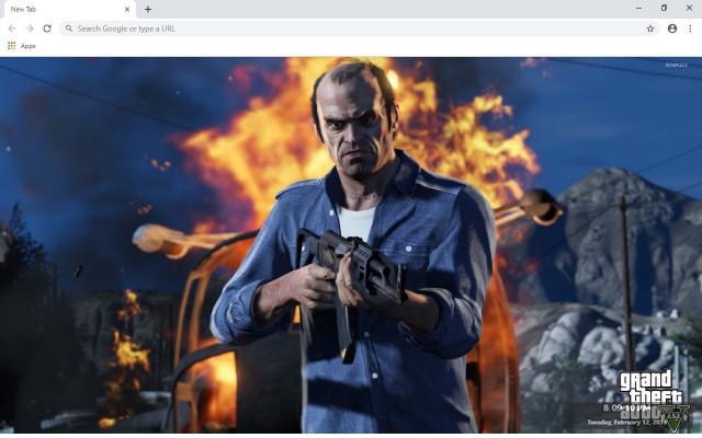 GTA V Grand Theft Auto V Custom New Tab
