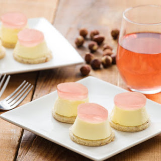 Wine Gelee Topped Cheesecake Minis