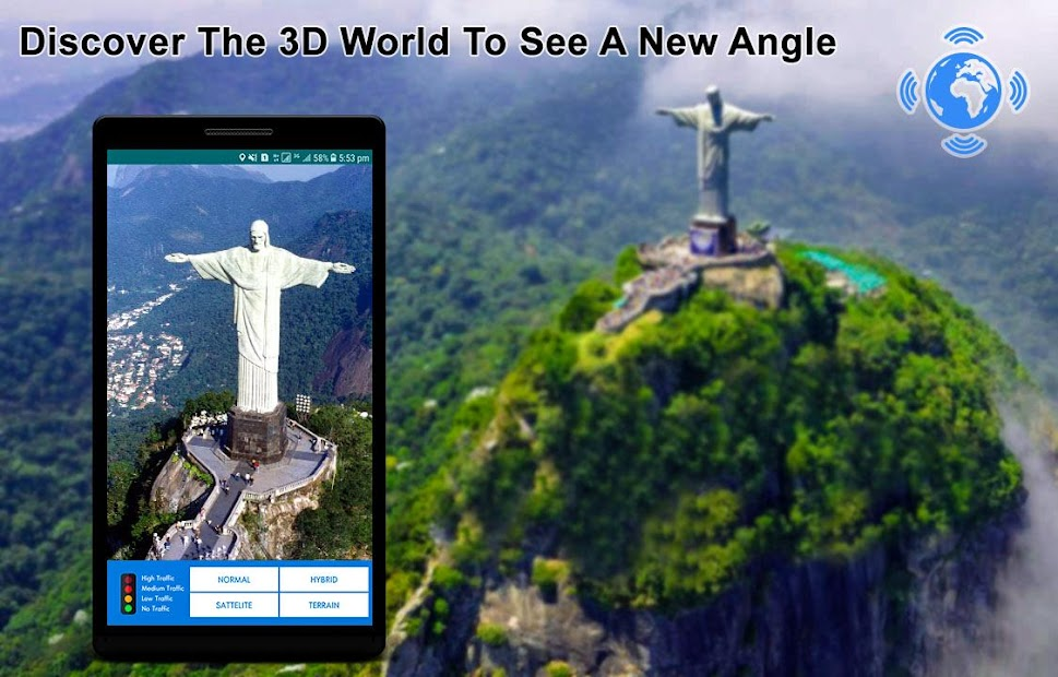 Google Map Satellite View Android on