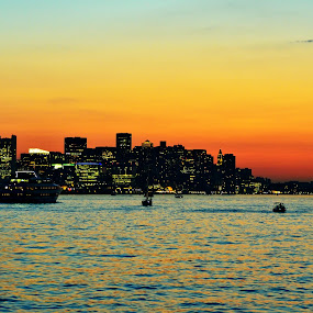 The Skyline - Boston by Mithun Das - Landscapes Sunsets & Sunrises