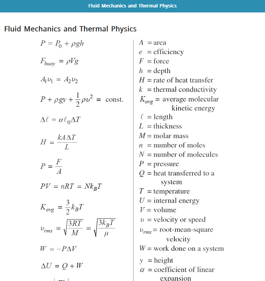 physics formula Physics formulas for free find formulas, lemmas and theorems you need for all  your physics courses or projects please email us if you have suggestions for.
