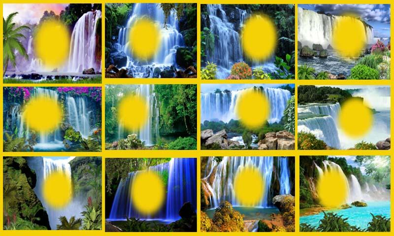 Natural Waterfall Photo Frames- screenshot