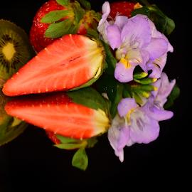 fresh fruits end flower by LADOCKi Elvira - Food & Drink Fruits & Vegetables ( floral, nature, plants, fruit, garden )