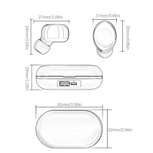 Casti Bluetooth ZLT-01 Reflection Vision, Microfon, TWS Clear 3D Sound, Stereo Hi-Fi Earbuds