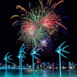 Cairns Festival by Andy Rigby - Abstract Fire & Fireworks ( cairns, display, five fishes, fireworks, queensland,  )