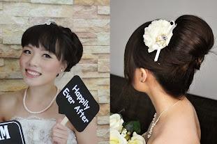 fun wedding bun up