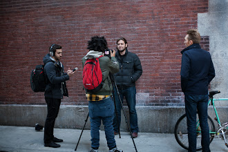 Photo: The fine folks from Black Box Films shooting a tour trailer in NYC (photo by Spyr Media)