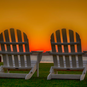 Chairs II by Keith Wood - Artistic Objects Furniture ( kewphoto, chairs, sunset, sea pnes, keith wood,  )