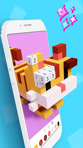 Color by Number 3D - Pixel Art Coloring Games Android App Screenshot