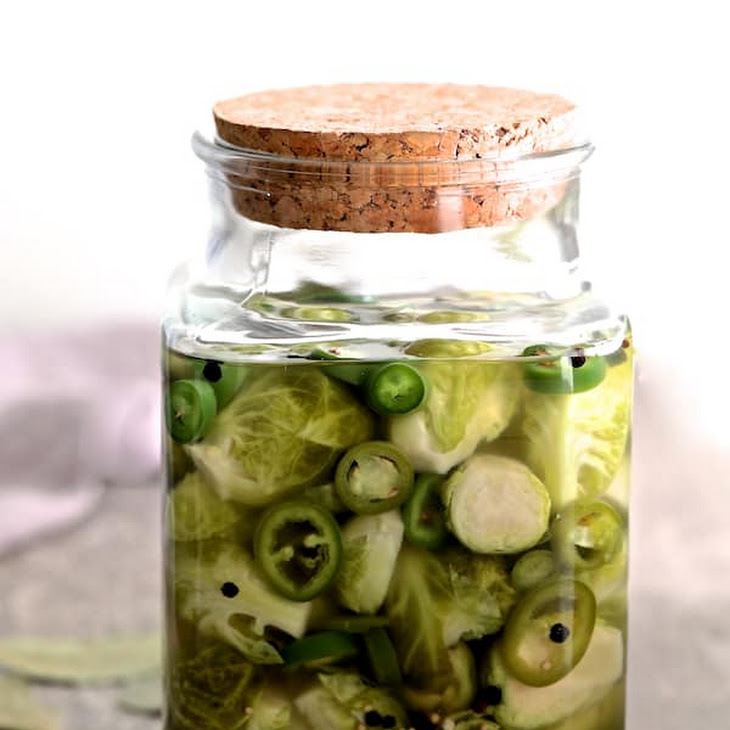 Quick Pickled Brussels Sprouts with Jalapeno Recipe