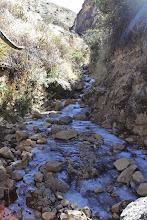 Photo: Riachuelo congelado. Cerca a Malata Lari, Caylloma - Arequipa