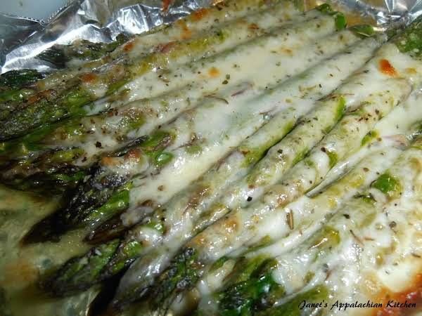 Cheesy baked asparagus recipe just a pinch recipes cheesy baked asparagus ccuart Gallery